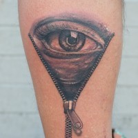 Eyeball tattoo by graynd on arm