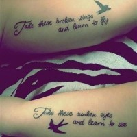 Friendship quote tattoos on hand