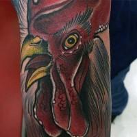 divertente dipinto colorato realistico tatuaggio su braccio