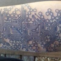 grande circuitale dettagliato disadattato tatuaggio su braccio