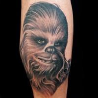Tatuaje en el antebrazo, Chewbacca divertido detallado