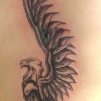 Griffin tattoo with huge wings on back