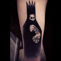 Grim reaper black ink tattoo by susanne konig