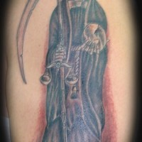 truce mietitore tatuaggio in stile classico