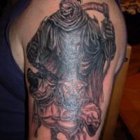 truce mietitore con cane cerbero tatuaggio