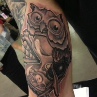 Hour glass tattoos and designs for men