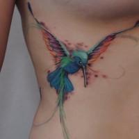 Hummingbird tattoo by dopeindulgence