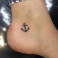 Ink anchor small ankle tattoo
