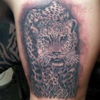 Interesting jaguar tattoo idea for man