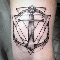 piccolo scientifico ancoraggio tatuaggio su braccio