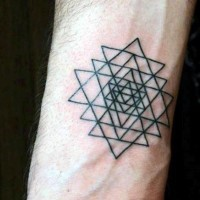Little simple geometric style tattoo on wrist