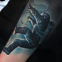 Lost in Space forearm tattoo