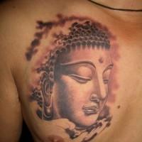 bella gautama buddista tatuaggio su petto