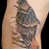 Neuschulstil farbiger Seite Tattoo des wunderschönen Adlers