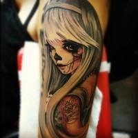 New style santa muerte girl tattoo
