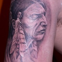 Old indian tattoo on half sleeve by fiesta