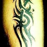 Old school black tribal tattoo