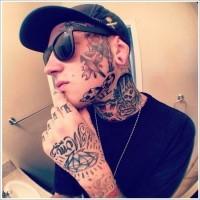 vecchia scuola su faccia tatuaggio per maschio