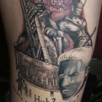 Tatuaje en el brazo, película Silent Hill fantástica