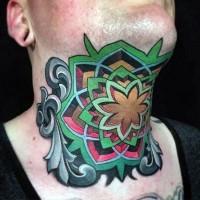 originale dipinto colorato stile celtico tatuaggio su colo