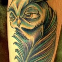 Tatuaggio colorato sul braccio la cevetta