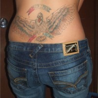 Patriotic tattoo for women