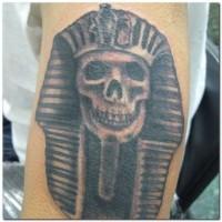 Pharaoh skull tattoo