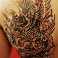 Tatuaggio impressionante sulla schiena l'uccello by Chronic