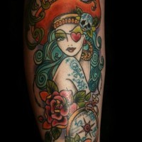 Pirate lady classic tattoo by dawnii fantana