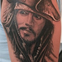 Pirate of caribian face tattoo for male