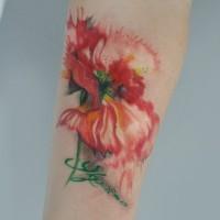Mohnblume Tattoo von Dopeindulgence