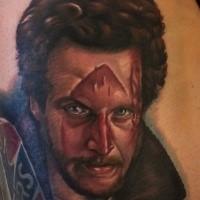 Portrait style colored Home alone movie hero portrait tattoo