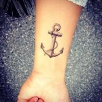 bel ancoraggio tradizionale tatuaggio su polso