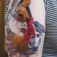 Fantasia psichedelica del tatuaggio di Joanna Swirska sul braccio