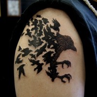 Raven bird tattoo for guys