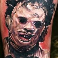 realistico dettagliato film orrore eroe tatuaggio su braccio