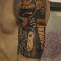 Tatuaggio realistico  sul braccio il samurai by Royal Jafarov