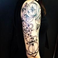 davvero carino ancoraggio tradizionale tatuaggio