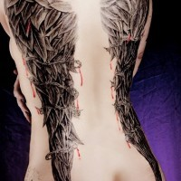 Related wings tattoo by ciccarelli