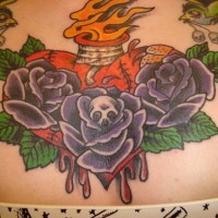 Sacred heart waist tattoo