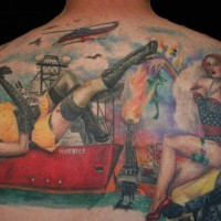 marinai ragazzi pin up tatuaggio sulla schiena da Amanda West