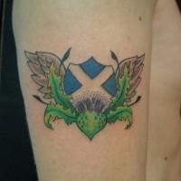 Scotland tattoo with flag idea