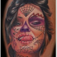Showing a language day of the dead girl tattoo