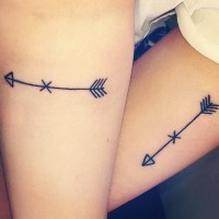 Small arrows of friendship tattoos