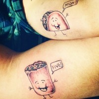 Small friendship tattoos high five