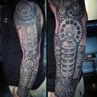 Biomechanical Tattoo Sleeve Tattooimages Biz