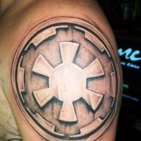 Tatuaje en el brazo, símbolo de Imperio Galáctico simple 3D