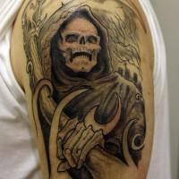 Tatuaggio 3D sul braccio la morte