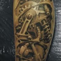 Le tatouage 3D artistique de bras biomécanique