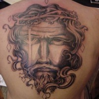 Jesus christ face in crown of thorns